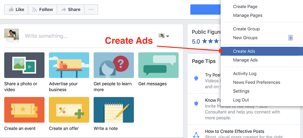 promote blog on facebook with ads