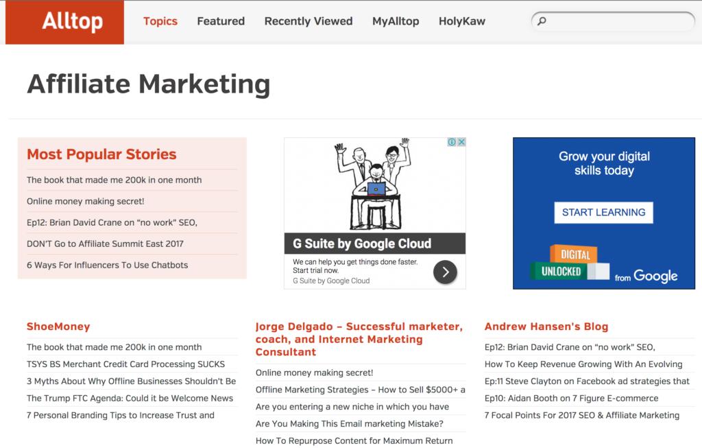 top affiliate sites